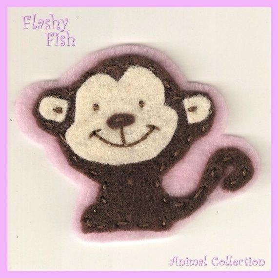 Felt Monkey Hair Clip