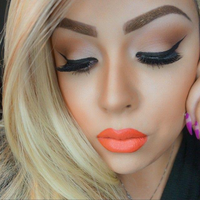 Orange Lipstick Makeup Looks Makeup Vidalondon