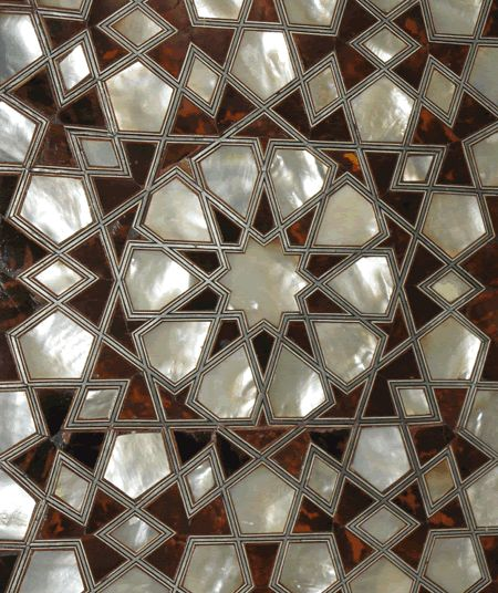 Jali / fretwork is part of a panel made from mother of pearl inlay at Topkapi Palace (Istanbul)