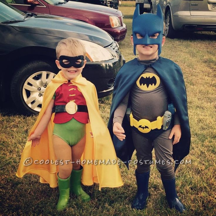 1960s Batman and Robin Child Couple Costumes... Coolest Halloween Costume Contest