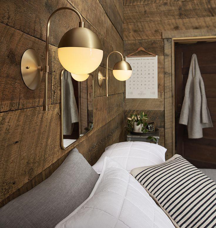 Cedar & Moss Sconce Rejuvenation Home decor, Green