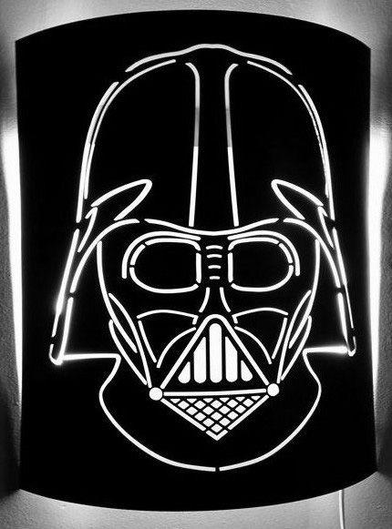 Décoration intérieure - Lampe Star War - Dark Vador - Art Métal Concept Quimper - http://artmetalconcept.e-monsite.com/album/agencement-interieur/