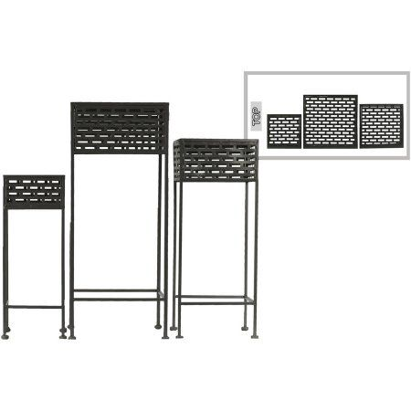Urban Trends Collection Metal Plant Stand Coated Finish, Black