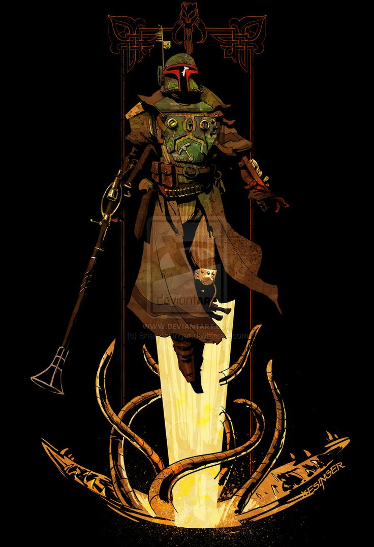 bounty hunter rising by ~BrianKesinger on deviantART: War Steampunk, Geek Art, Brian Kese, Stars War Art, Boba Fett, Steampunk Stars War, Steampunk Boba, Bobafett, The Avengers