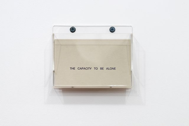 Louise Lawler, 'The Capacity to Be Alone,' 1990, mfc - michèle didier