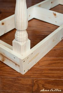 an interesting way to make a bench - all you need are the legs and 2 x 4s