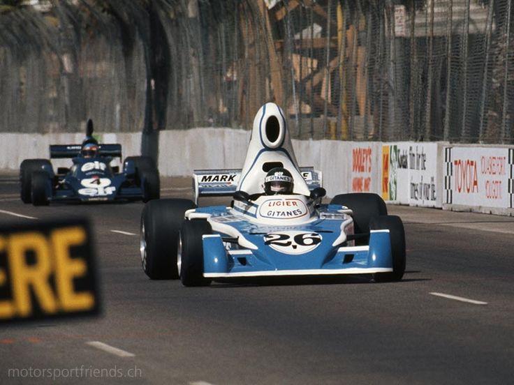 1976 Long Beach Grand Prix -- Jacques Laffite in a Ligier via MOTORSPORTFRIENDS.CH