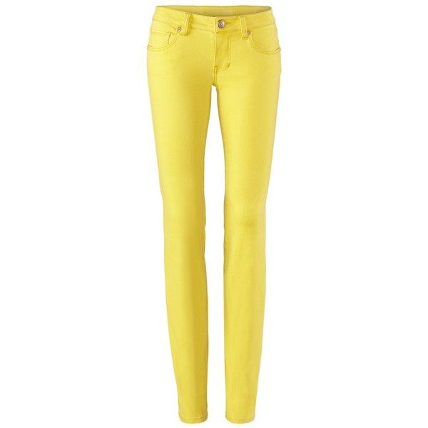 Yellow tall skinny jeans