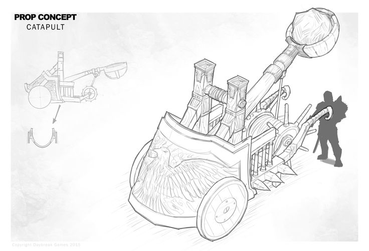 ArtStation - Prop concept - Catapult rough sketch, Wes Wheeler