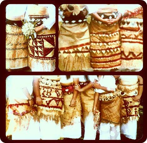 Tongan Ta'ovala (woven mat) Worn by Tongans as a sign of respect.