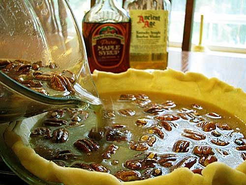 Maple Pecan Pie (with Bourbon) | Chickens in the Road