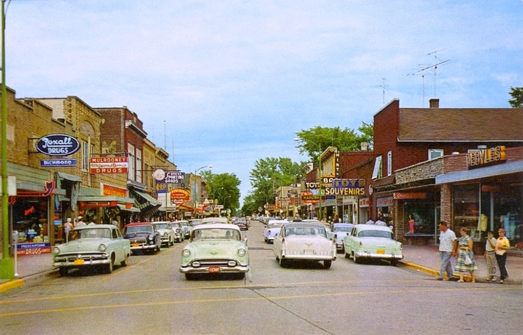 Downtown Eagle River Wi In 1955 My Home Away From 3 Years Gone By Pinterest Rivers And Wisconsin