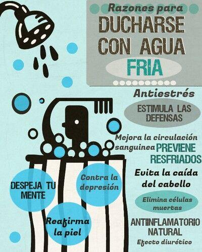 Salud y #bienestar Beneficios de ducharse con agua fría www.pinterest.com/imeba