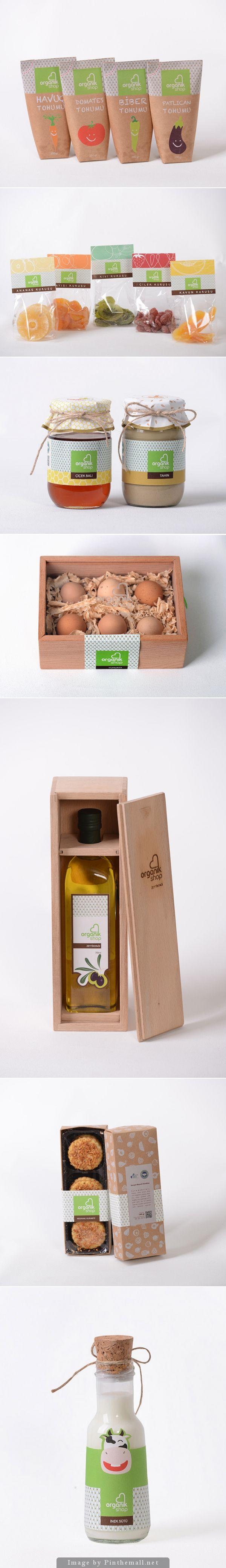 organic shop - food packaging PD
