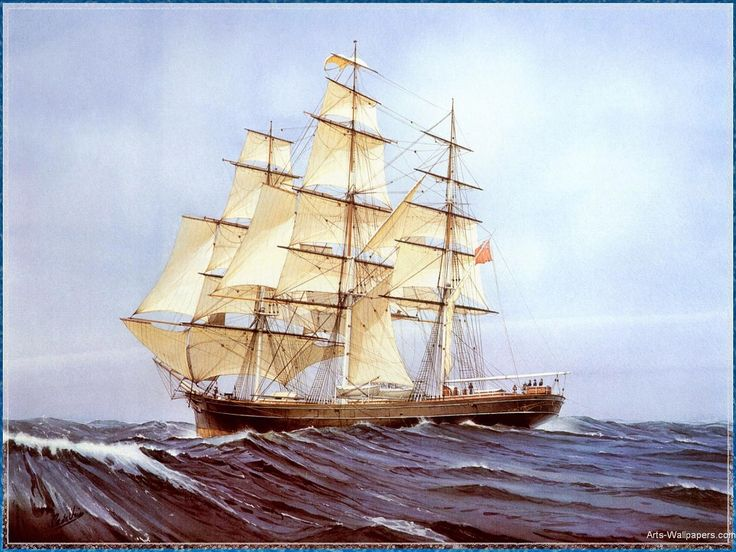 25 best ship paintings images on pinterest sailing ships