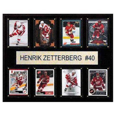 C and I Collectables NHL 15W x 12H in. Henrik Zetterberg Detroit Red Wings 8 Card Plaque - 1215ZETTERB8C