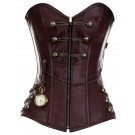 CD-467 - Brown Steam punk Style Corset with Chain Detail