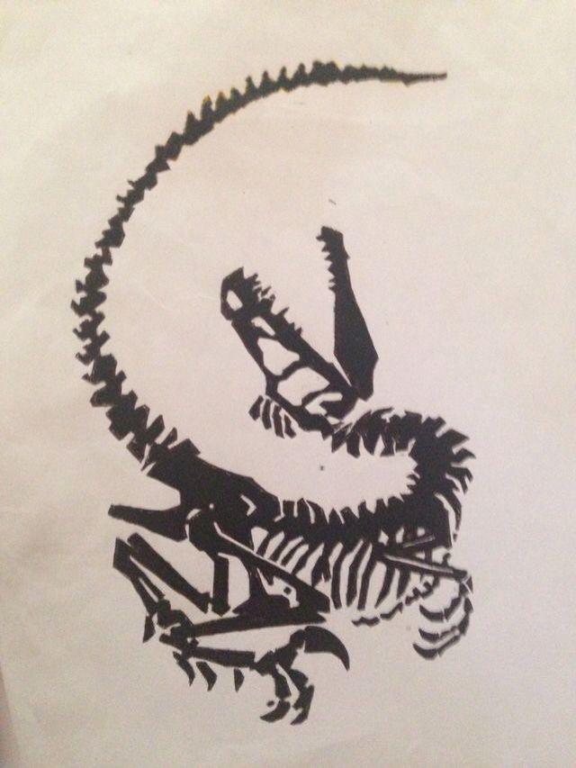 Jurassic Park Velociraptor Skeleton Tattoo 25+ best Dinosa...