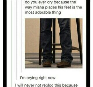Misha Collins is adorable. So. Freaking. Adorable.