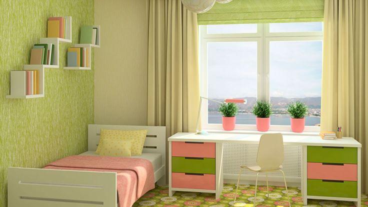 Chica adolescente en armario