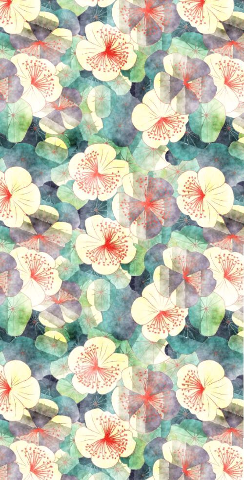 Large Watercolour Floral Print