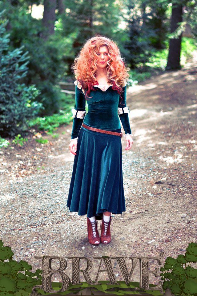 DIY Brave Costume, Princess Merida adult costume (Note from Kristin: www.LoveMaegan.com AWESOME blogger - CHECK IT!