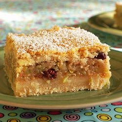 I like to add rum soaked raisins to this Hungarian apple cake. My grandmother added ground walnuts to hers.