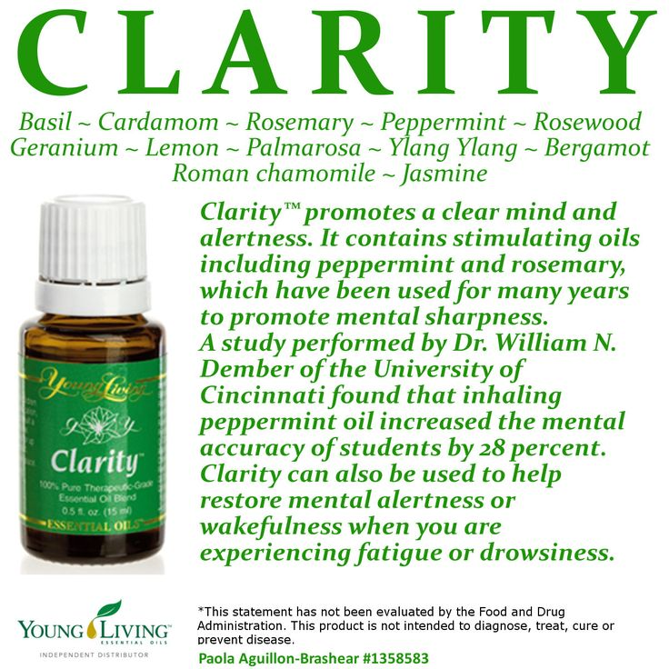 Young Living Essential Oil Clarity Visit my website to order or become a distributor: www.ylwebsite.com/paola