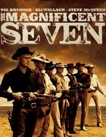 1960. Fed up with being brutalized and impoverished because of outlaw raids led by a merciless brigand (Eli Wallach), the besieged citizens of a small Mexican town hire seven American gunslingers to stave off the marauders once and for all. Badass Yul Brynner heads the band of mercenaries, which includes Hollywood luminaries Steve McQueen, Charles Bronson, James Coburn and Robert Vaughn. Elmer Bernstein penned the film's unforgettable score.
