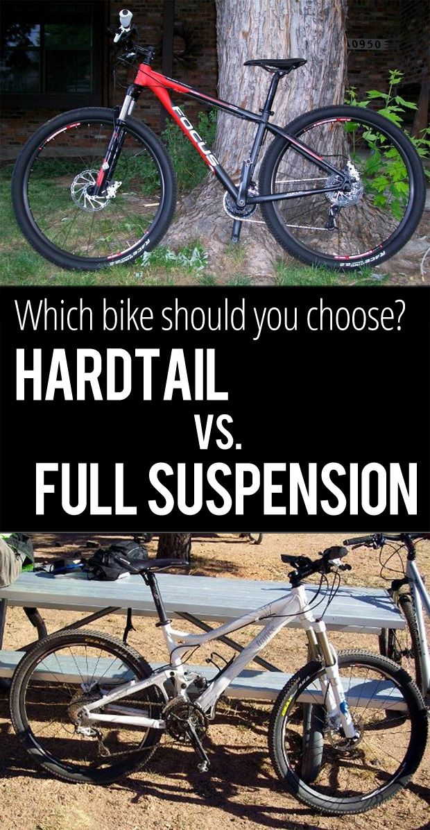 Hardtail vs Full Suspension Mountain Bikes.