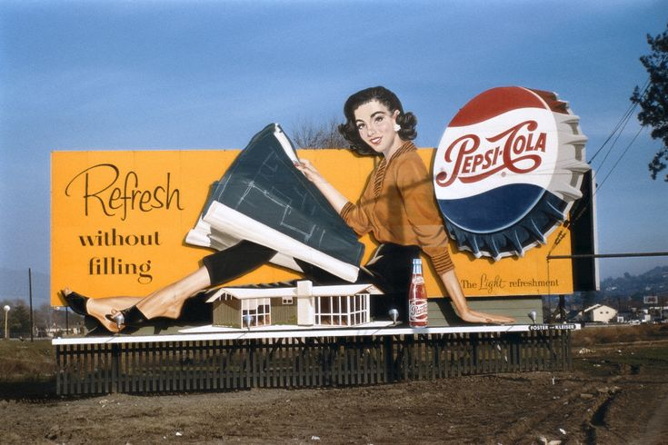 Vintage Pepsi billboard. They sure don't make them like this anymore.
