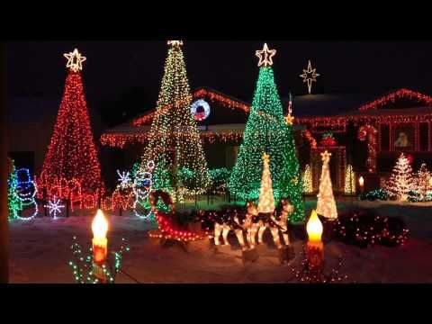 Charming Christmas Lights Show Really Beautiful!