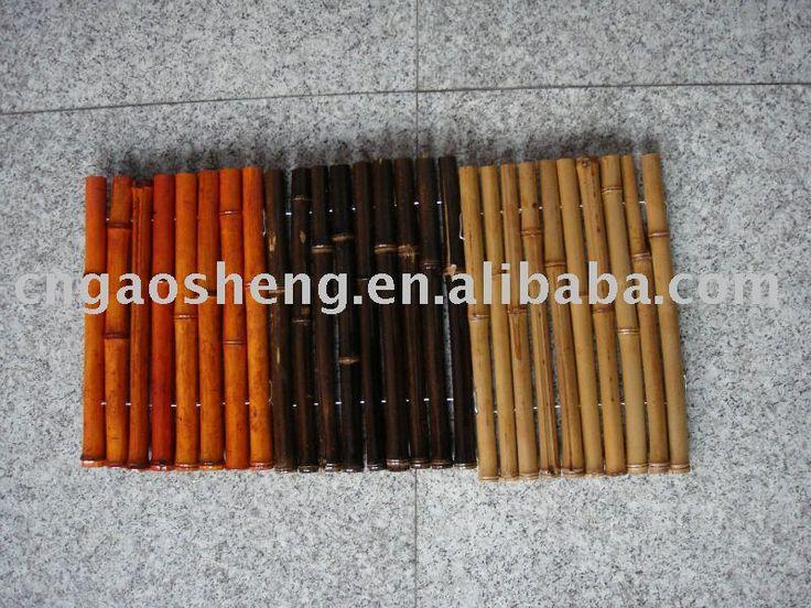 Bamboe hek, latwerk, grens rand