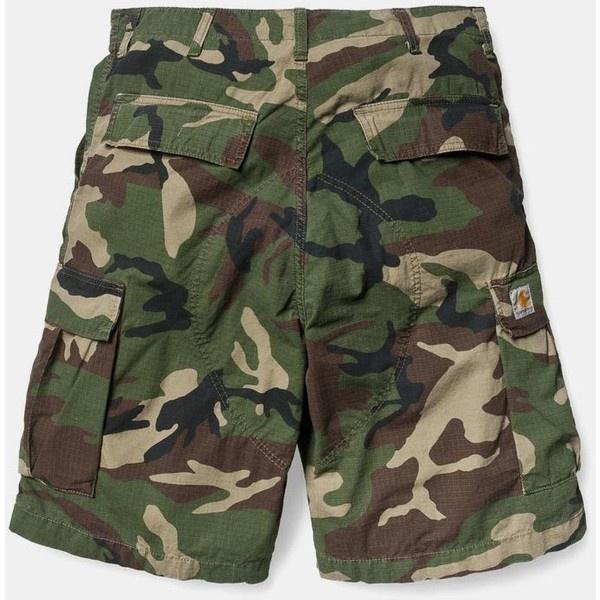 Carhartt Cargo Bermuda Shorts - Camo ❤ liked on Polyvore