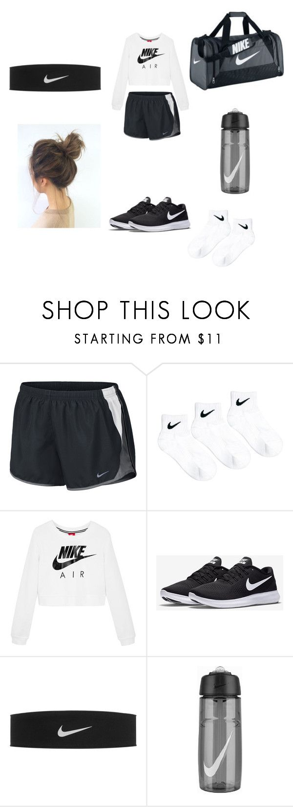 """""""nike(dance outfit #2)"""" by yoitsdd ❤ liked on Polyvore featuring NIKE"""
