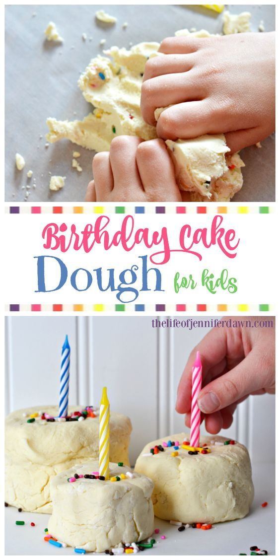 Edible Play Dough: Birthday Cake Dough for Kids! It smells and tastes just like birthday cake, and the sprinkles make it even more fun!
