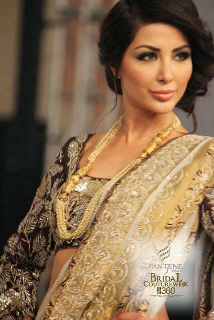 Nida Azwer - Pakistani Bridal Fashion PBCW 2013 Lahore
