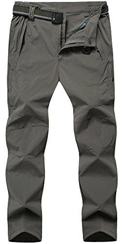 FunnySun Men's Hiking Pants,Outdoor Lightweight Breathable Quick Dry Climbing Cargo Pants,9917 DarkGrey L. For product info go to: https://all4hiking.com/products/funnysun-mens-hiking-pantsoutdoor-lightweight-breathable-quick-dry-climbing-cargo-pants9917-darkgrey-l/