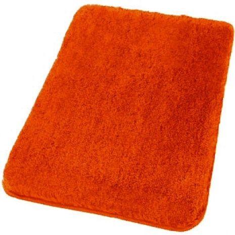 Superior Bright Orange Bathroom Rugs