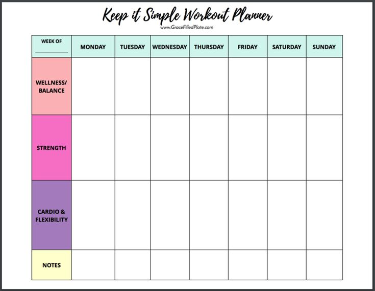 a simple workout template that will make you excited to
