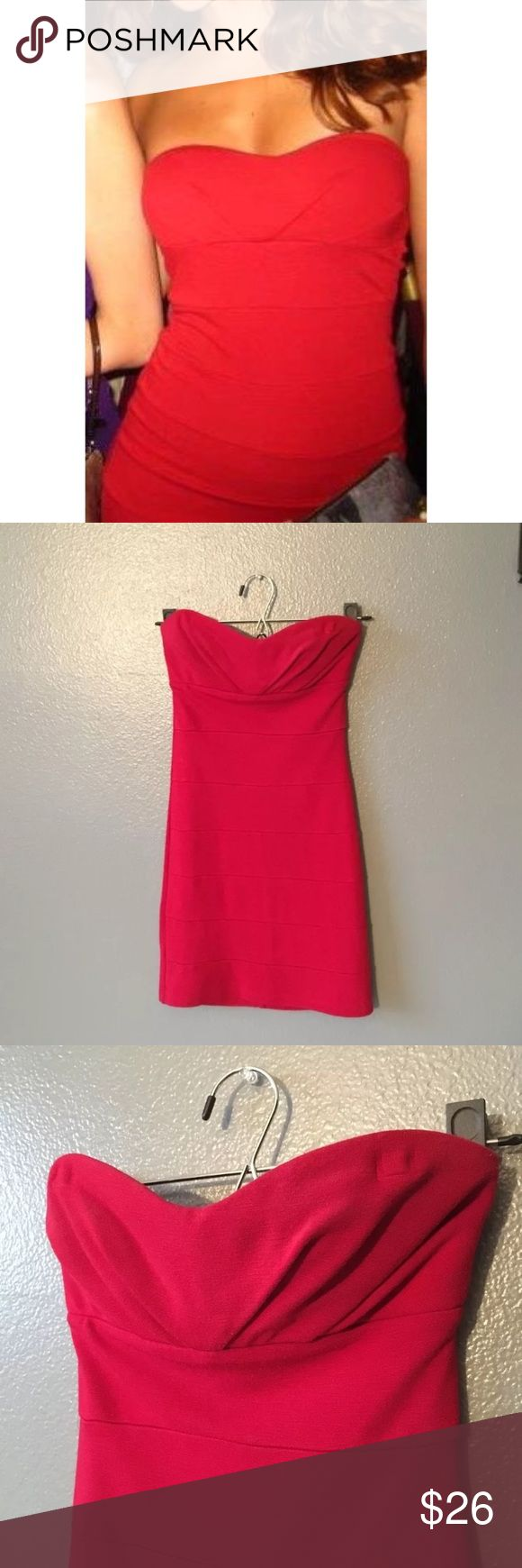Sexy, hot red, zip up tube dress. Sweetheart neck Nothing more stunning than a simple and BOLD piece! Bold, stand-out-in-crowd, red! Forever 21 Dresses Mini