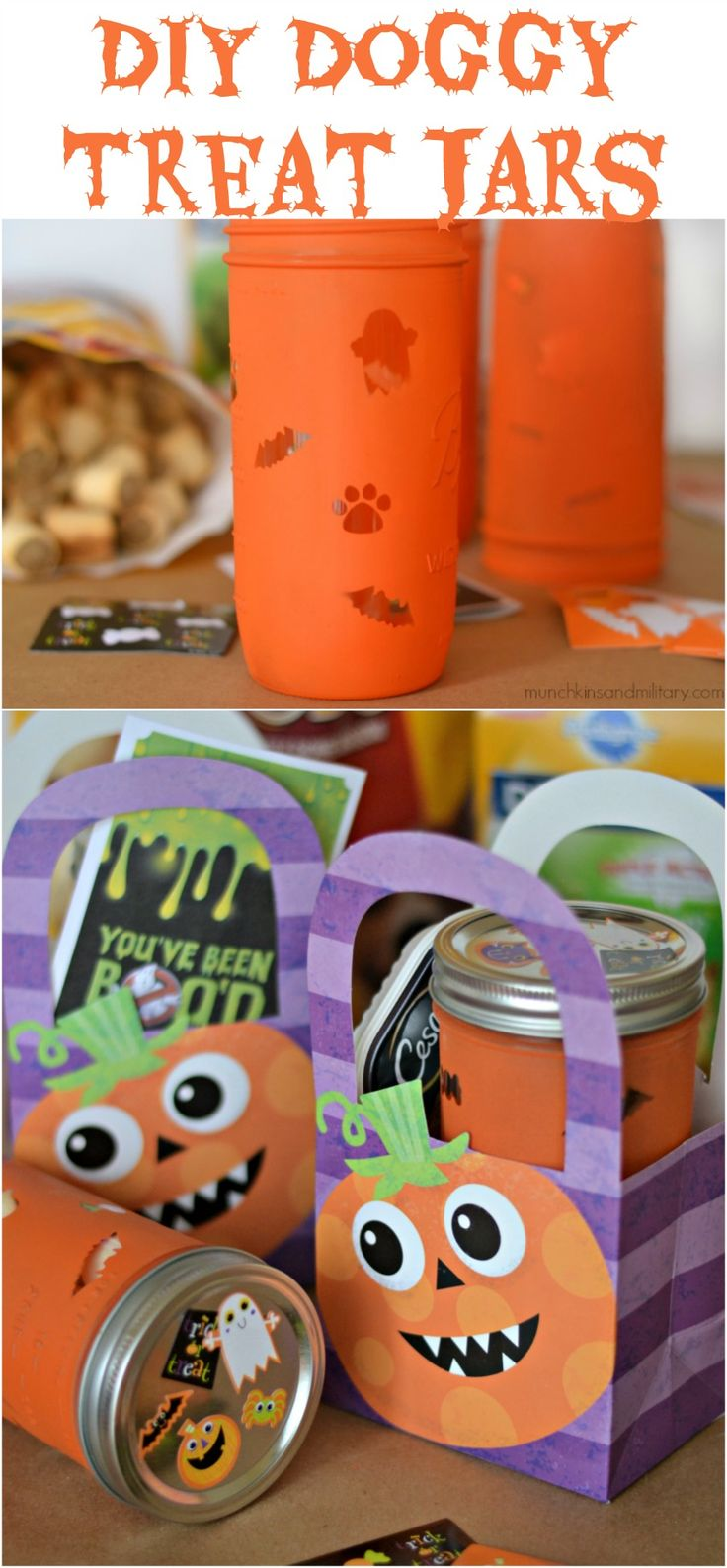 DIY Doggy Treat Jars For Halloween