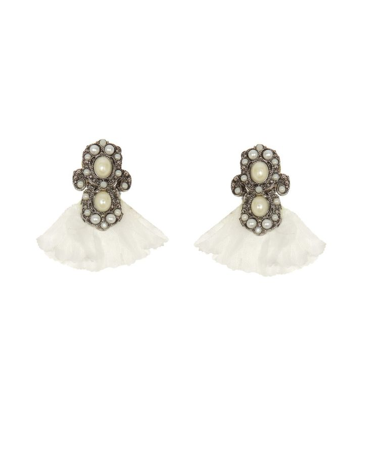 Chahel Earrings by La Gaellou $45.00  These #exotic Chahel earrings are inspired by a trip to India. Super casual, yet gorgeous!  #fashion #jewelry #design