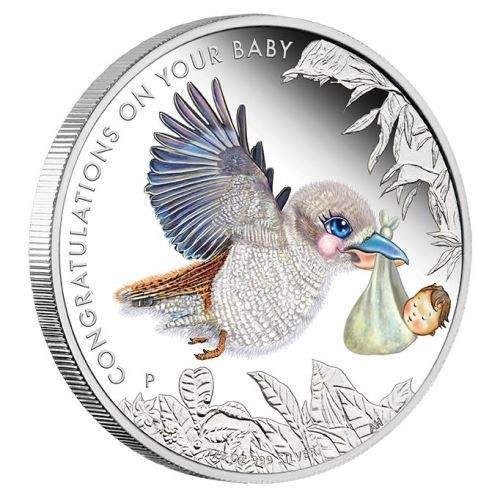Who is not moved by the arrival of an innocent, beautiful new baby | Newborn Baby 2017 1/2oz Silver Proof Coin in Card | The Perth Mint