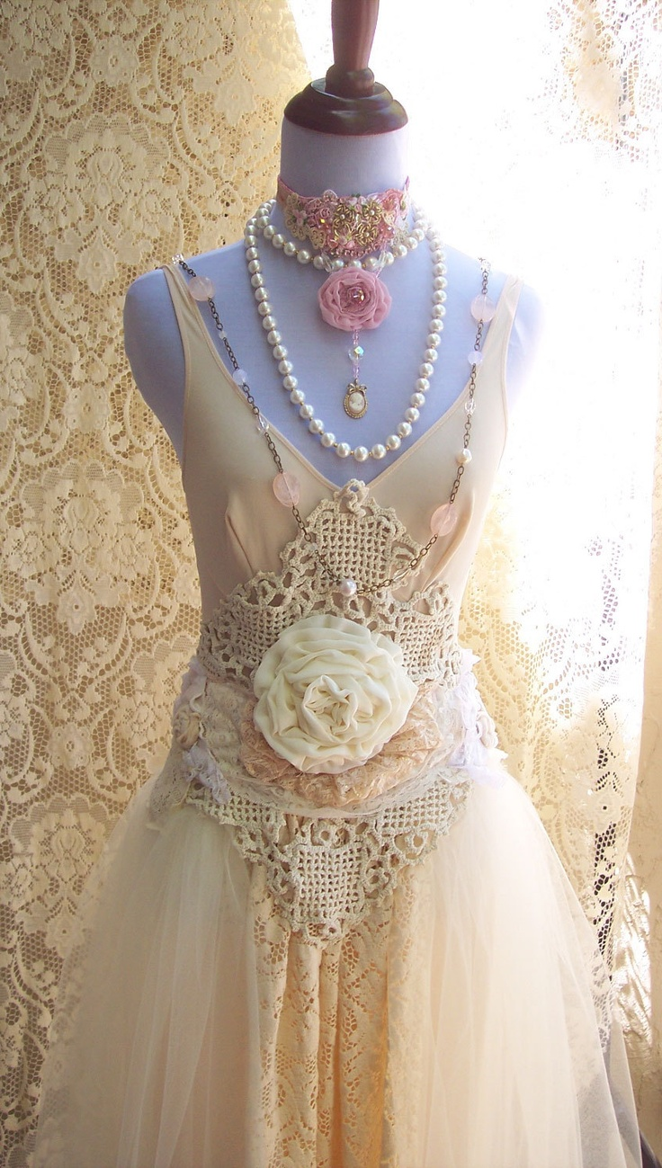 Altered couture dress altered couture clothing for Pinterest wedding dress lace