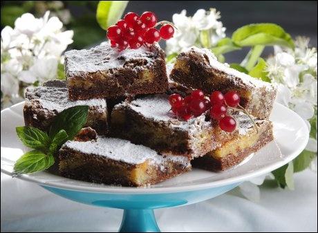 Brownies med mørk og hvit sjokolade