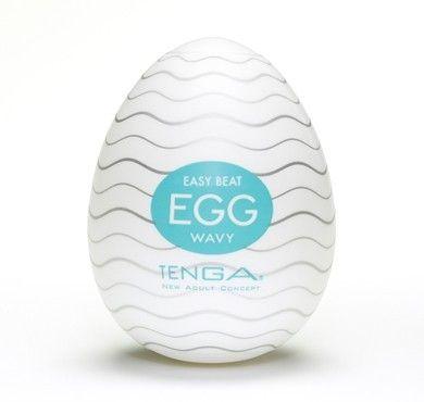 Tenga Egg Wavy fra Tenga - Sexlegetøj leveret for blot 29 kr. - 4ushop.dk - TENGA - betyder elegant, raffineret, yndefuldt, pænt på japansk - beskriver Tenga produkterne perfekt. Tenga produkterne er stilfulde, inovative og sjove. TENGA giver en verden af ekstraordinære seksuelle oplevelser gennem top ingeniørkunst og fineste kvalitet materialer. TENGA produkter er det bedst sælgende sexlegetøj til mænd i Japan, og dens popularitet er øget hurtigt i resten af verden.
