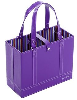 The plum file tote is a must for any working mom! Keep files and office items stylish and organized!