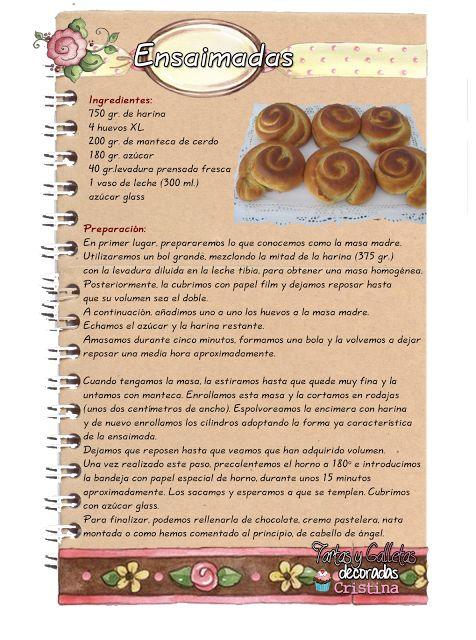 Tartas, Galletas Decoradas y Cupcakes: Ensaimada