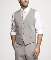 Classic light gray vest - great menswear for any wedding